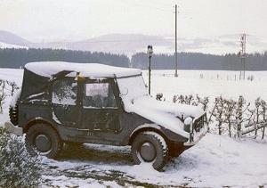 Munga in de sneeuw